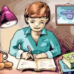 Doing the homework — Stock Vector #11441576
