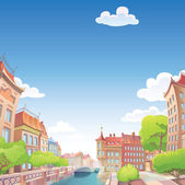 Old good European city — Stock Vector