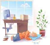 Sleeping at work — Stock Vector