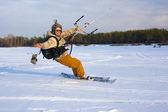 Snowkiter — 图库照片