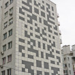 Building with a crossword puzzle. - Stock Photo