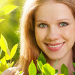 Beauty girl in nature - Foto Stock