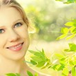 Face of beauty girl in nature — Stock Photo #11201203