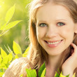 Beauty girl in nature — Stock Photo #11418392