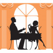 At Restaurant — Stock Vector #11723742