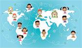 Kids connected worldwide — Stock Vector