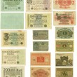 Obsolete German banknotes cut out - Stock Photo