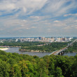 View of the river Dnieper in Kiev - Stock Photo