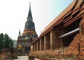 Wat Yai Chai Mongkol (Mongkhon) in Ayutthaya. — Stock Photo