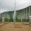 Field of antennas in Norwegian mountains. — 图库照片