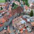 Royalty-Free Stock Photo: Old city of Fribourg from above.