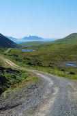 View of grassy island Soroya. — Stock Photo