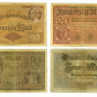 Obsolete German banknotes cut out — Stock Photo