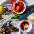 Close-up of picnic food — Stockfoto