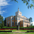 Royalty-Free Stock Photo: Finnish church and monument of Talvisota.