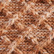 Close-up of knitted cloth with geometrical pattern — Stock Photo