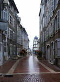 Old curve street of Europe — Stock Photo
