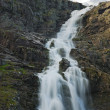 Mountain with a waterfall — Stock Photo