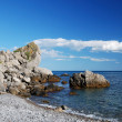 Stony shore of the Black Sea — Stock Photo