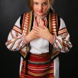 Ukrainiteenage girl in native costume — Stock Photo #11359891