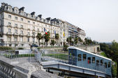 A funicular against boulevard of Pyrenees in Pau — Stock Photo