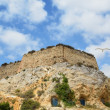 Ancient fortress of Cartagena from bottom — Stock Photo
