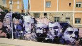 Graffiti in der spanischen stadt cartagena — Stockfoto