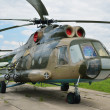 Multipurpose helicopter Mi-8MT on the field — Stock Photo