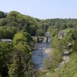 Stock Photo: Bridge over river Swale