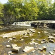 Stock Photo: Richmond waterfall on swale,north yorkshire