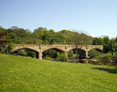 Richmond bridge over the Swale — Stock Photo