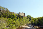 Richmond castle from the river — Stock Photo