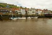 Barcos em whitby — Foto Stock