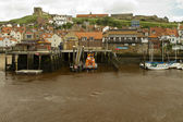 A life boat docked at Whitby — Stock Photo