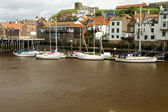Boats moored at Whitby — Stock Photo