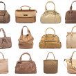 Set of beige female bags-1 - Stockfoto