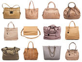 Set of beige female bags-2 — Stock Photo