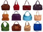 Conjunto de multicoloridos sacos-1 feminino — Foto Stock