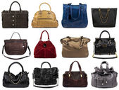 Set of multicolored female bags-3 — Stock Photo