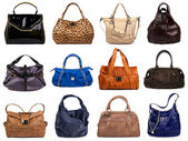 Set of multicolored female bags-6 — Stock Photo