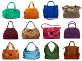 Set of multicolored female bags-7 — Stock Photo