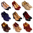 Multicolored female shoes-7 — Stock Photo