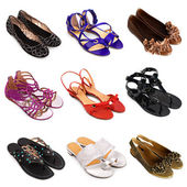 Multicolored female shoes-5 — Stock Photo