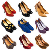 Multicolored female shoes-8 — Stock Photo