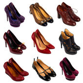 Multicolore scarpe femminili-9 — Foto Stock