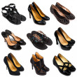 Dark female shoes-2 - Stock Photo