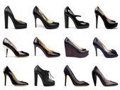 黑暗的女性鞋 6 — 图库照片