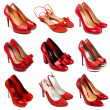 Red female shoes-3 — Stock Photo