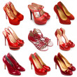 Red female shoes-1 — Stock Photo