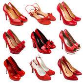 Zapatos de mujer rojo-3 — Foto de Stock